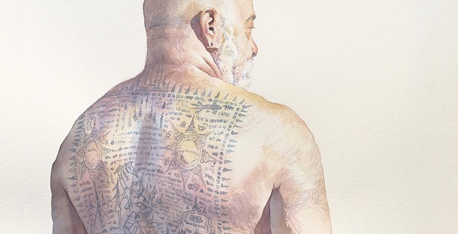 Man 7, Back Tattoo