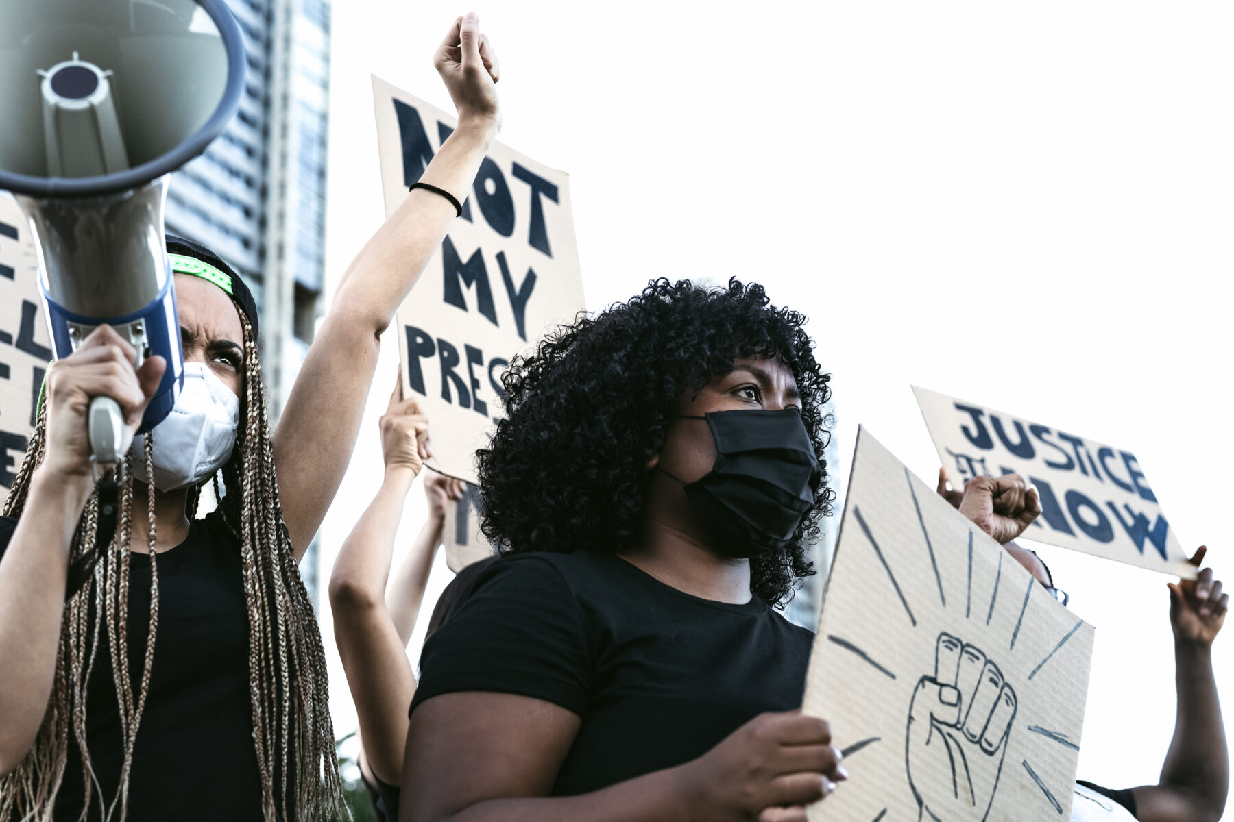 Group of Black women protesting for racial justice. Getty Images.