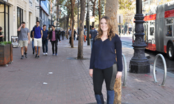Erin Collins on the streets of San Francisco