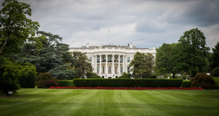 a photo of the White House across the lawn