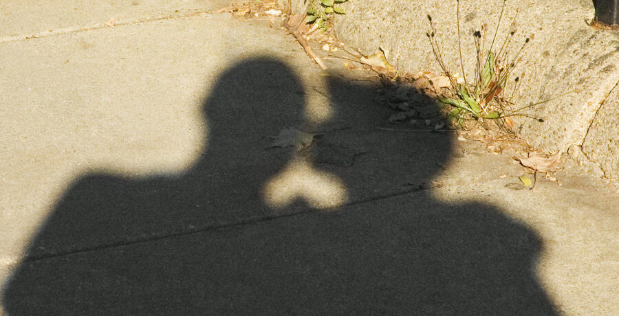 Shadow of two men