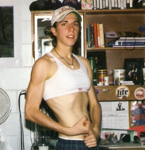 Picture of Ryan wearing a sports bra