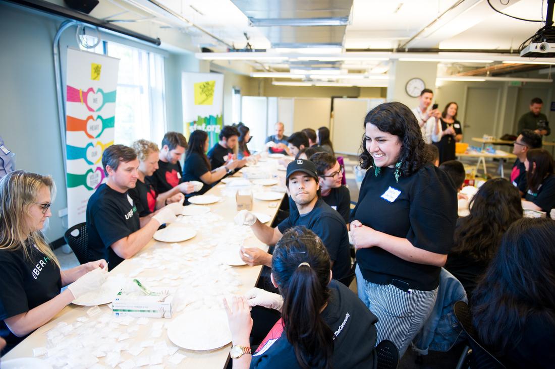 Volunteers at SFAF