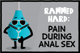 butt health cartoon - pain during anal sex