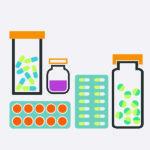 illustration of HIV meds