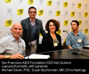 San Francisco AIDs Foundation CEO Neil Giuliano with Hivision panelists