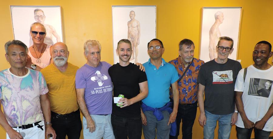 50-plus members with Gabriel Garbow artwork
