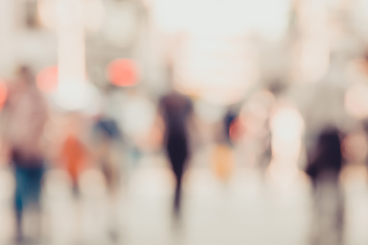 blur of people outside