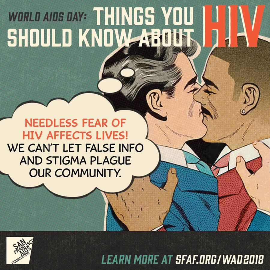 Needless fear of H I V affects lives! We can't let false info and stigma plague our community.